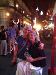 Mom and I on Bourbon Street